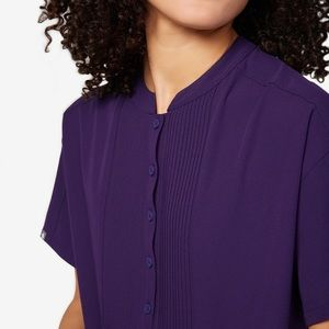 *limited edition figs scrub top mua pintuck purple